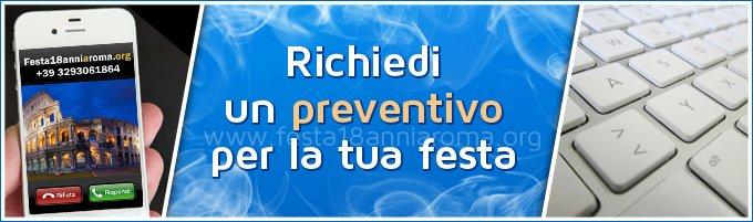 preventivo festa 18 anni roma
