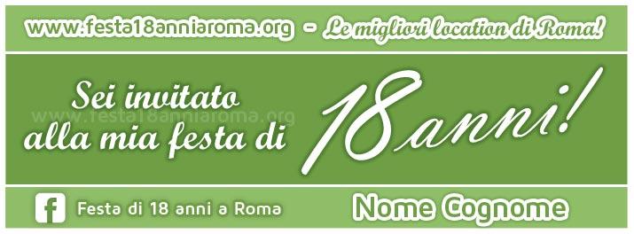 biglietto invito festa 18 anni roma
