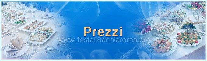 festa 18 anni roma prezzi