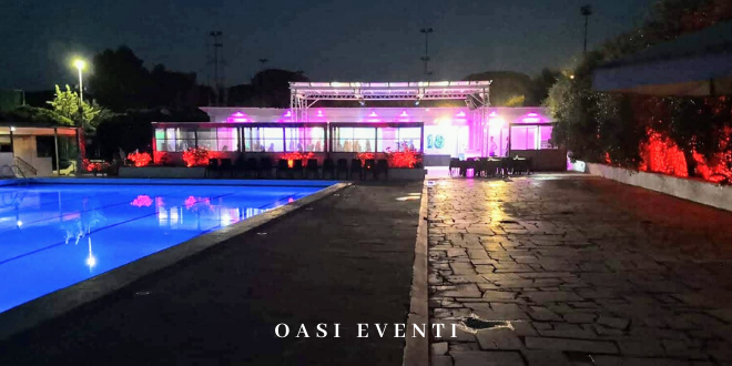 oasi eventi locale con piscina a roma sud